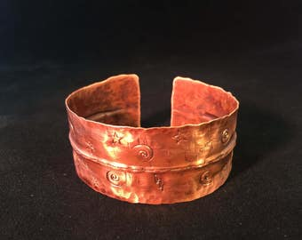 Bracelet - Hand Forged Copper Cuff Bracelet - Unisex Bracelet - FREE SHIPPING
