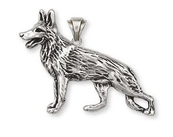 German Shepherd Pendant Jewelry Sterling Silver Handmade Dog Pendant D57-P