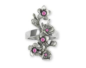Cherry Blossom Ring Jewelry Sterling Silver Handmade Flower Ring CBL1-SR