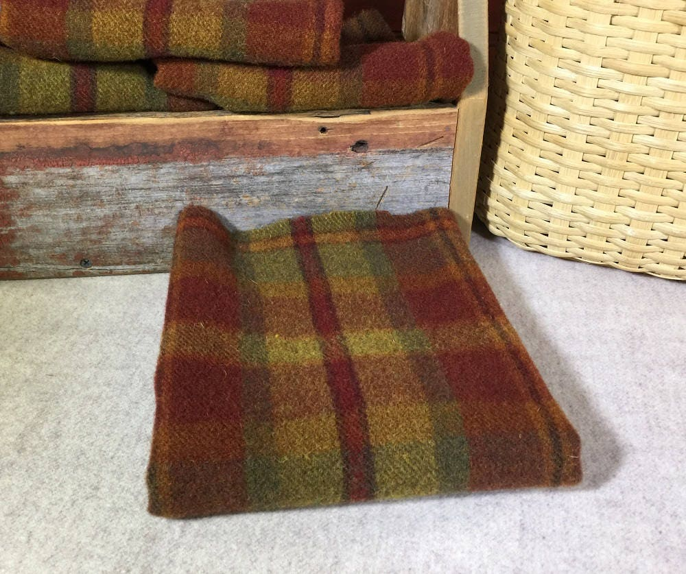 Huntsman, A Red, Rust, Gold And Green Plaid, Mill Dyed