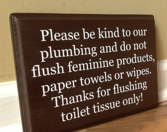 Bathroom Signs Toilet Paper Only septic tank sign | etsy
