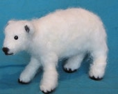 Felted Alpaca Polar Bear large