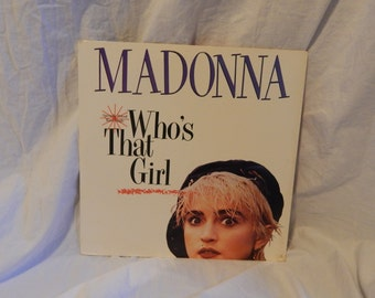 Madonna Who's That Girl vinyl record maxi single
