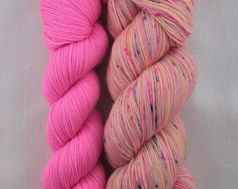 Hand-dyed yarn - sock yarn - superwash - merino - dyed-to-order - bundle SUPER CHAUSSETTE CANDY