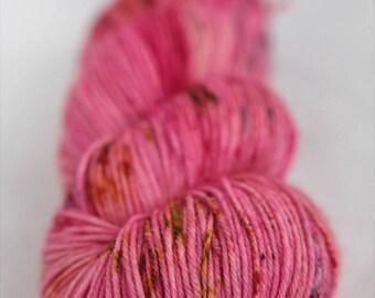 Hand-dyed yarn - sock yarn - superwash - merino - dyed-to-order - speckles - HOT