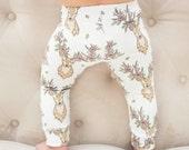 Floral Deer Leggings for Babies and Toddlers