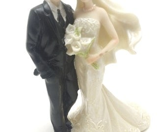 Bride and Groom Wedding Cake Top Couple