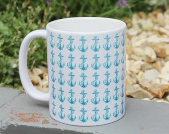 Vintage Style Gift Mug - Anchors Ahoy!