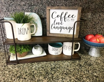 Coffee is my love language / Coffee sign / Framed Sign