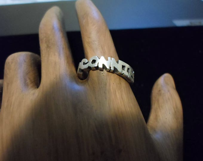 name ring sterling silver 4mm x 2mm