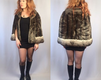 Vintage 1960's Faux Fur Cape