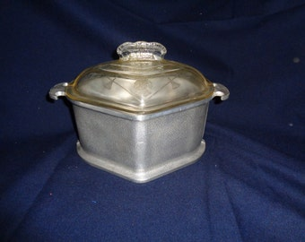 Guardian Service Triangular Cast Aluminum Roaster Roasting Pan Glass Top #2