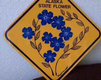 Alaska State Flower Sign