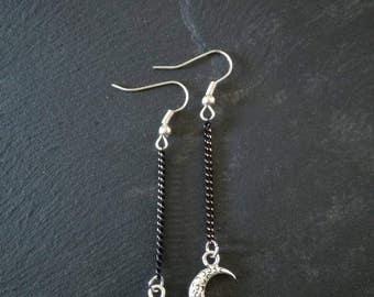 Moon Silver earrings