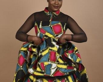 Rahyma Multi-Color Mesh dress