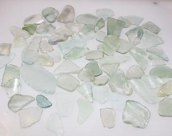 100 Mixed Grades Sea Foam 100% Genuine Ocean Tumbled Sea Glass from the Monterey Bay