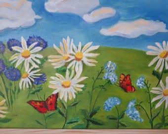 Chamomile oilpainting
