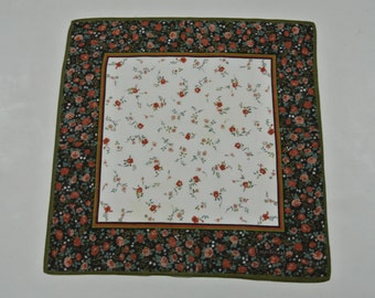 Authentic Louis Feraud Floral Pattern Handkerchief