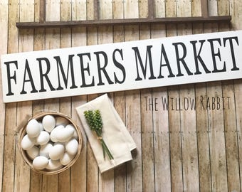 Farmers Market | Farmhouse Sign | Kitchen Decor | Large Farmers Market Sign