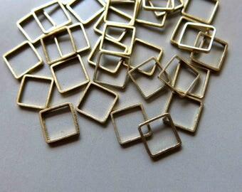 200pcs Raw Brass Square Rings , Findings 5mm - F404