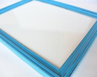 Turquoise Framed White Board, Whiteboard, Dry Erase Board, Office, Gift, Kid Room, Bulletin Board, Message Board, Wedding Sign, Photo Prop