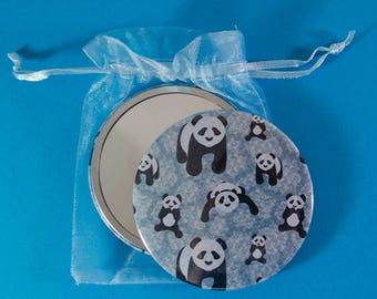 76mm Panda Pattern Pocket Mirror