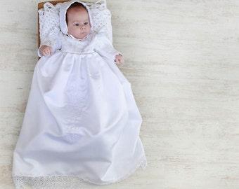 Heirloom Christening Gown Aquitania with Bonett