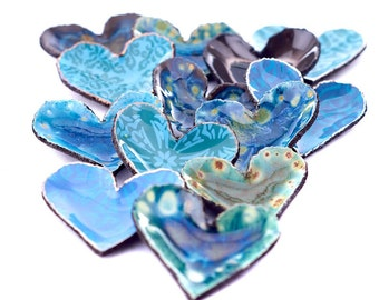 Valentine gift, Decorative ceramic Heart Dish