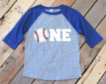 Baseball Toddler Shirt - 1st Birthday Shirt - One Baseball Shirt Toddler - Boys 1st Birthday - Raglan 1st Birthday - Baseball Shirt
