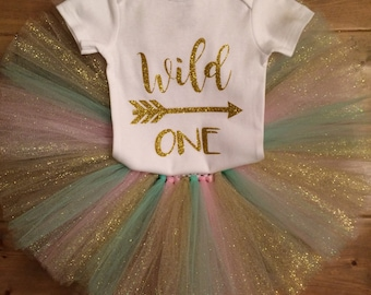 wild one- tutu and onesie outfit