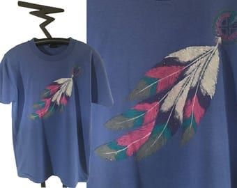 90's DREAM CATCHER Feather Tee, Size Large