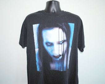 90's Marilyn Manson The Long Hard Road Out Of Hell Vintage Antichrist Superstar Era Cult Classic Spawn Movie Soundtrack Goth Rock T-Shirt