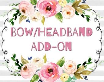 Bow/Headband Add-On