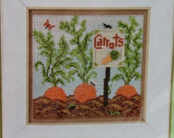 Mill Hill Bead and Perforated Paper Carrot Garden Cross Stitch Kit with Frame