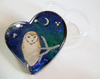 Owl Plastic Box - Heart Box