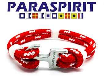 "Paraspirit ""REGATTA"" Nautical Rope Bracelet with Stainless Steel Anchor Clasp"