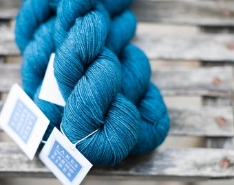 Alturas Superwash Merino Yak and Silk Fingering Weight Hand Dyed Yarn