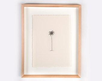 Single Palm Illustration Print
