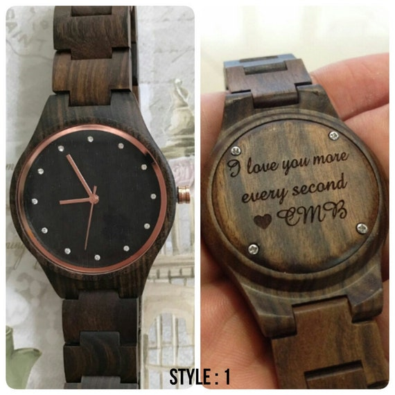 Personalized Gifts Teen Girls - Engraved Wooden Watch