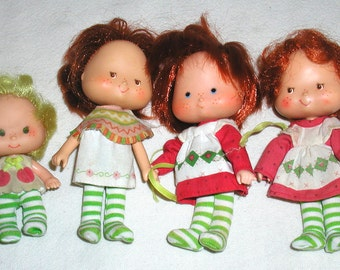 Lot of 4 Vintage Strawberry Shortcake Dolls