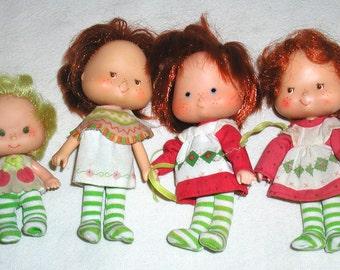 Lot of 4 Vintage Strawberry Shortcake Dolls