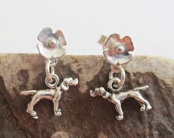 Pointer Poppy Earrings - Sterling Silver Mini - Post Earrings