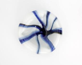 Vintage Hand Blown Glass Bowl // Beautiful Murano Style Glass Art Ash Tray