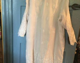 Vintage Lace/Crepe Dress