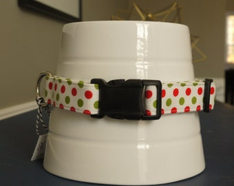 holiday dot collar