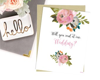 Digital Will You Read at My Wedding Cards-Digital File-5x7-Instant Download-Wedding Party Card-Wedding Party Card-Wedding Cards