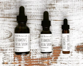 Vitamin C Serum, Hyaluronic Acid, Gift, Mother's Day Gift, Birthday, Stocking Stuffer, Facial, Skincare