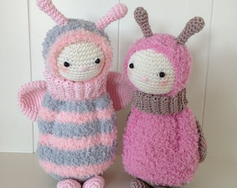 Crochet pattern Ladybug and Bumble Bee