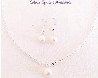 Pearl Necklace, Pearl Jewellery, Ivory Pearl Necklace, Pearl Jewellery, Bridesmaid Necklace, Single Pearl Necklace