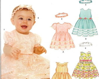 Babies New Look Pattern 6575 FANCY DRESSES Sizes Newborn - Large